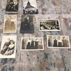 Vintage black & white post cards